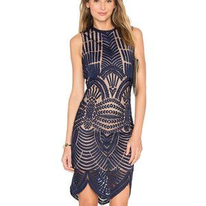 New Bardot Divinity lace dress in Ink